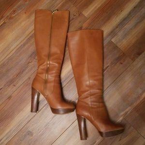 Michael Kors Laney platform leather knee high boot